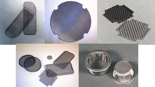 Stamped Wire Mesh Shapes and Parts