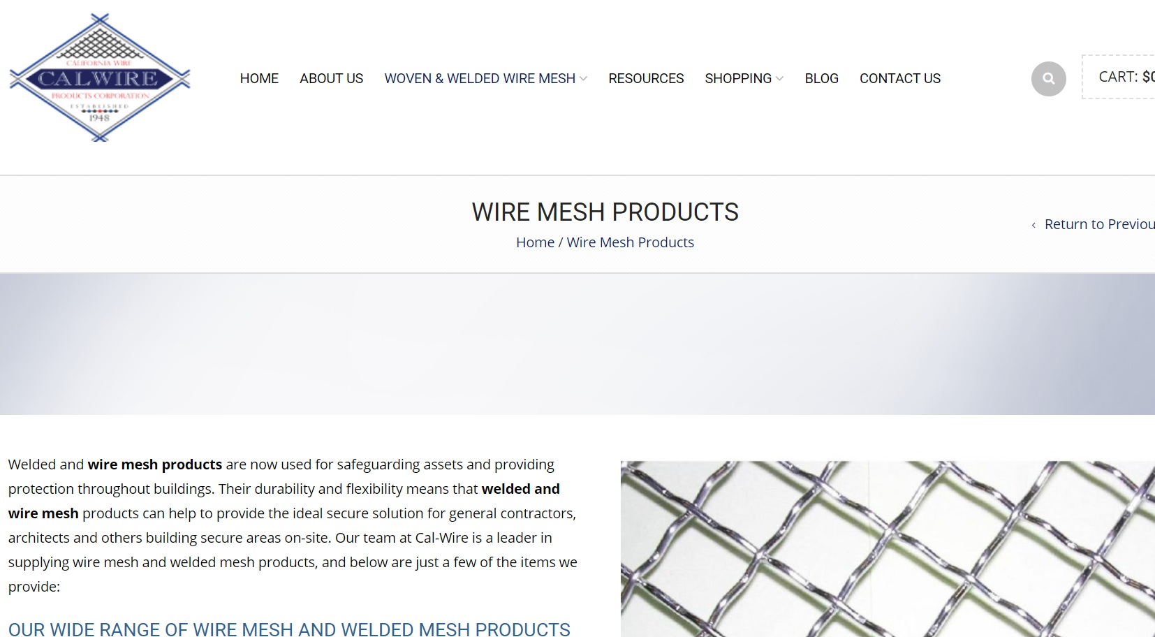 California Wire Products